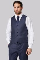 Ermenegildo Zegna Cloth Zegna Regular Fit Blue Birdseye Waistcoat