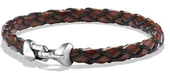 David Yurman Armory Leather Bracelet in Brown