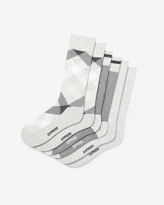 Express 3 Pack Gray Diamond Print Dress Socks