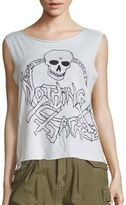 R 13 Nothing Sacred Skull Cashmere Tank