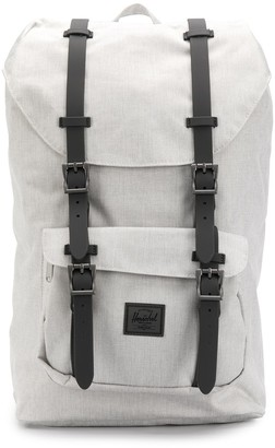 Herschel logo patch buckled backpack