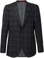 Isaia checked Donegal blazer