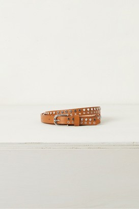 French Connection Carlotta Stud Skinny Leather Belt