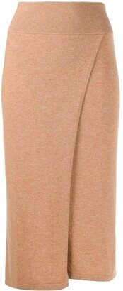 Cashmere In Love Lucia wrap knitted skirt