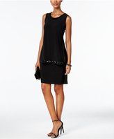 MSK Sequined Border Popover Cocktail Dress