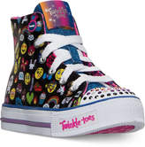 Skechers Little Girls' Twinkle Toes: Shuffles - Chat Time High-Top Casual Sneakers from Finish Line