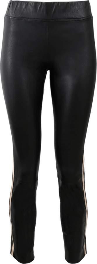 Brunello Cucinelli Side Stripe Leather Legging