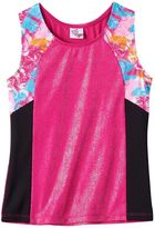 Jacques Moret Girls 4-16 Funky Loves Colorblocked Racerback Tank Top
