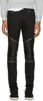 Saint Laurent Black Low Waisted Skinny Biker Jeans