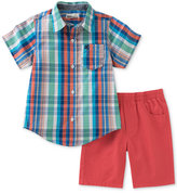 Kids Headquarters 2-Pc. Plaid Shirt & Shorts Set, Baby Boys (0-24 months)