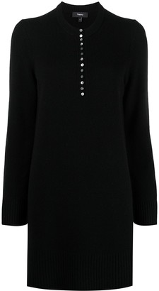 Theory Button-Down Knit Dress