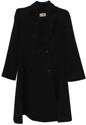 Christian Dior Black Cashmere Coat for Women