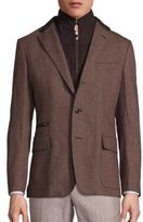 Corneliani Virgin Wool & Cashmere Textured Jacket