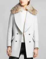 Belstaff Whitney Coat With Fur Light Grey Melange