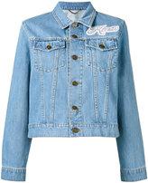Kenzo patch appliqué denim jacket - women - Cotton/Nylon/Polyester - XS