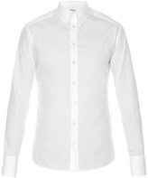 Alexander McQueen Raw-edge single-cuff cotton-poplin shirt