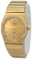 Concord 14K Yellow Gold Quartz Diamond Dial Bezel 23mm Womens Wrist Watch