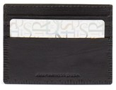 John Varvatos Men's Leather Card Case - Black