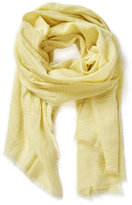 Altea Yellow Embroidered Scarf