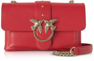 Pinko Red Love Mini Soft Simply Shoulder Bag