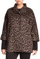 Cinzia Rocca Alpaca & Wool Leopard-Print Coat