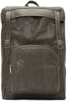 Saint Laurent Men's Tuscany Washed Leather Hunter Backpack In Grey