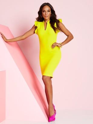 New York & Co. Ruffle-Sleeve Sheath Dress - Magic Crepe