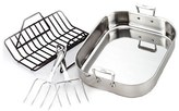 All-Clad Large Stainless Steel Roasting Pan & Turkey Forks