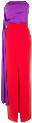 SOLACE London Harlow draped bodice maxi dress