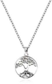 Rhona Sutton Beatrix Potter Sterling Silver Bunnies Family Tree Pendant Necklace