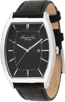 Kenneth Cole New York Kenneth Cole 3-Hand Date Barrel Black Dial Men's Watch #KC1614