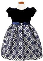 Sorbet Toddler Girl's Diamond Burnout Dress
