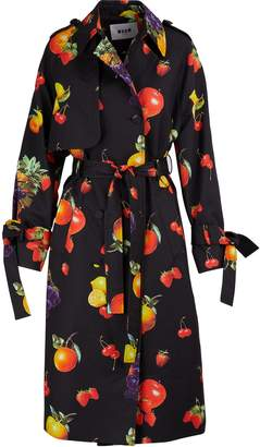MSGM Fruit print trench coat