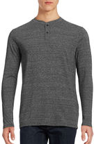 Dockers Tri-Blend Two-Button Henley Top