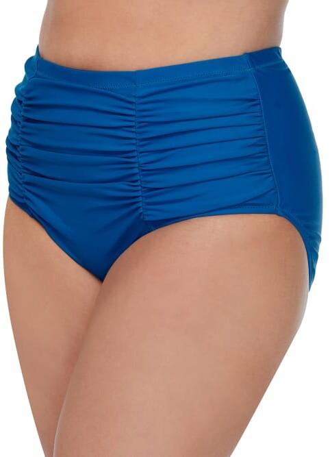 Thumbnail for your product : Raisins Curve Plus Size Dicante Solid Costa High-Waist Bikini Bottom