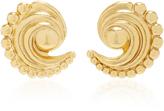 Nicole Romano 18K Gold-Plated Swirled Crescent Metal Earrings