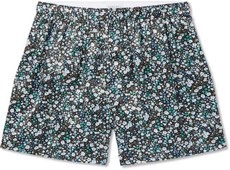Sunspel Printed Silk-Satin Boxer Shorts