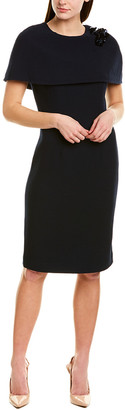 Teri Jon By Rickie Freeman Wool Sheath Dress