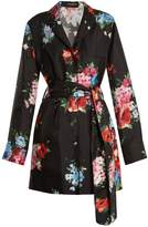 Dolce & Gabbana Button-down floral-print silk-twill jacket