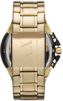 Armani Exchange Chronograph Bracelet Watch Gold/ Black