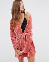 Asos Crushed Velvet Mini Robe