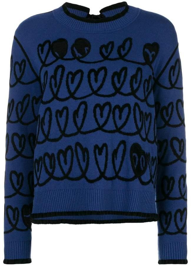 Fendi cut out heart sweater