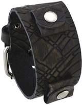 Nemesis #EQ-B Women's Krueger Pattern Brown Wide Leather Cuff Wrist Watch Band