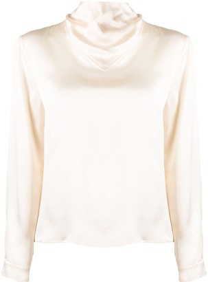 Le Kasha Kizil high-neck silk blouse