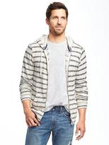 Old Navy Striped Sweater-Knit Zip Hoodie for Men