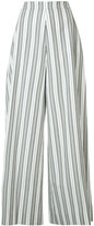 Christian Siriano striped palazzo pants - women - Cotton - 4