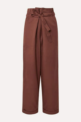 Le 17 Septembre LE 17 SEPTEMBRE - Wool-twill Tapered Pants - Chocolate