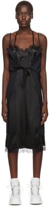 MM6 MAISON MARGIELA Black and Navy Strappy Slip Dress