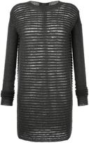 Rick Owens sheer stripe knit dress - women - Nylon/Mohair/Wool - L