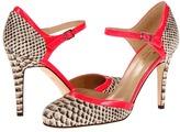 Kate Spade Lou (Natural Boa Print/Fuchsia Flouro Patent) - Footwear